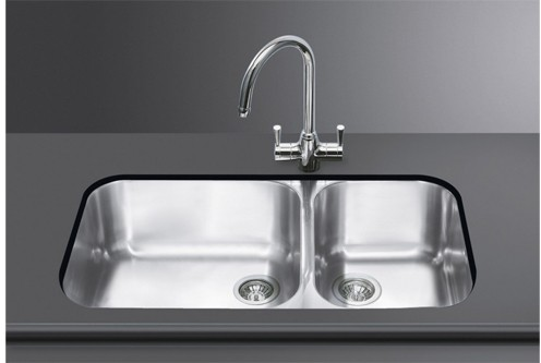 Additional image for 2.0 Bowl Stainless Steel Undermount Kitchen Sink.