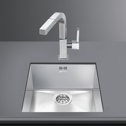 Additional image for Quadra Undermount Kitchen Sink 400x400mm (S Steel).