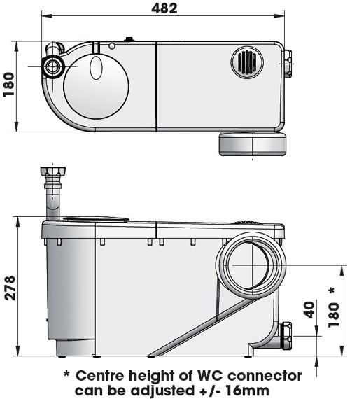 Additional image for Macerator For Toilet & Basin (2 inlets) 46575 .