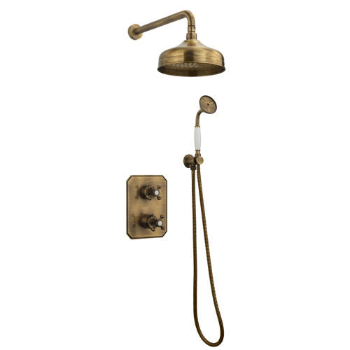Additional image for Thermostatic Shower Kit With Diverter (Bronze).