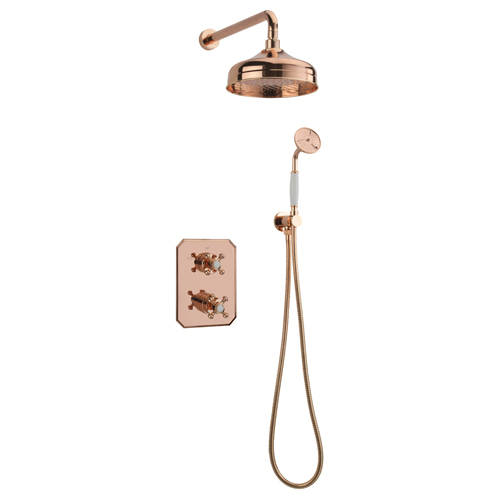 Additional image for Thermostatic Shower Kit With Diverter (Rose Gold).