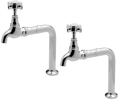Additional image for Bib Taps With Stands & Extensions (Chrome, Pair).