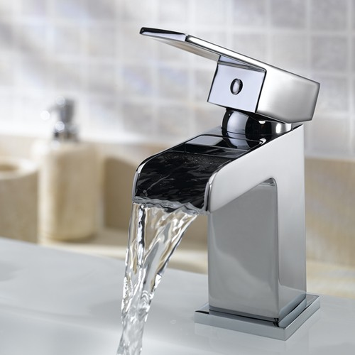Additional image for Waterfall Basin Mixer Tap With Click Clack Waste.