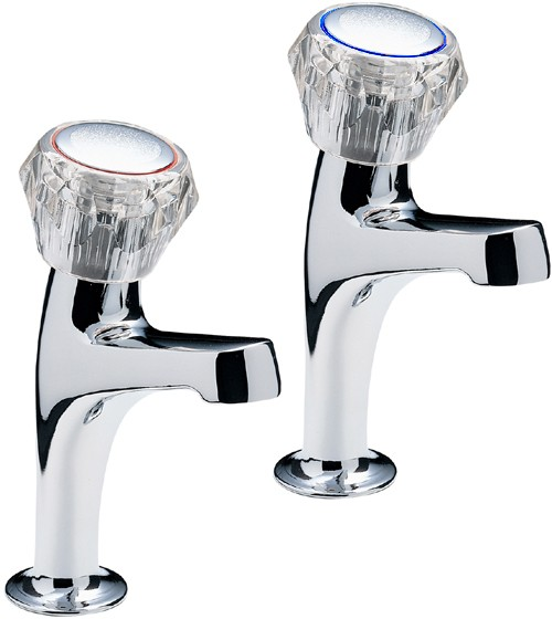 Additional image for Economy High Neck Kitchen Taps With Clear Heads.
