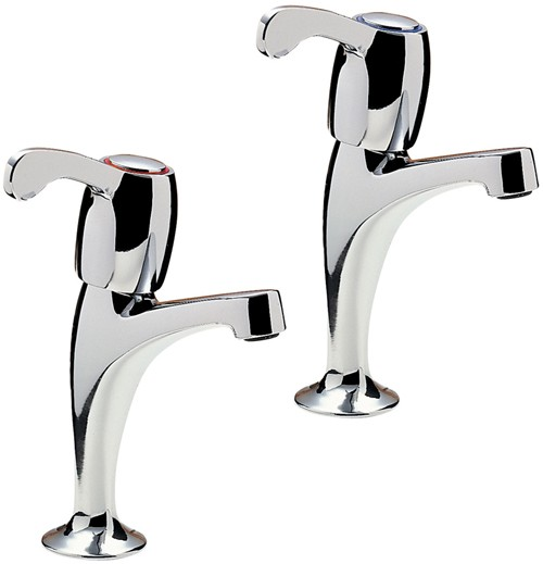 Additional image for Capri High Neck Kitchen Taps With Lever Heads (Chrome).
