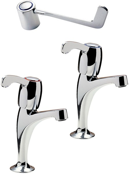 """Additional image for Capri High Neck Kitchen Taps With 6"""" Lever Heads."""