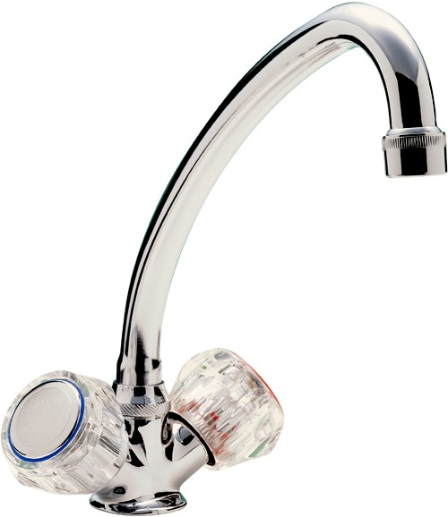 Additional image for Capri Mixer Kitchen Tap With Clear Heads (Chrome).