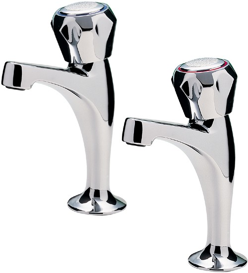 Additional image for Capri High Neck Kitchen Taps With Italy Heads (Chrome).