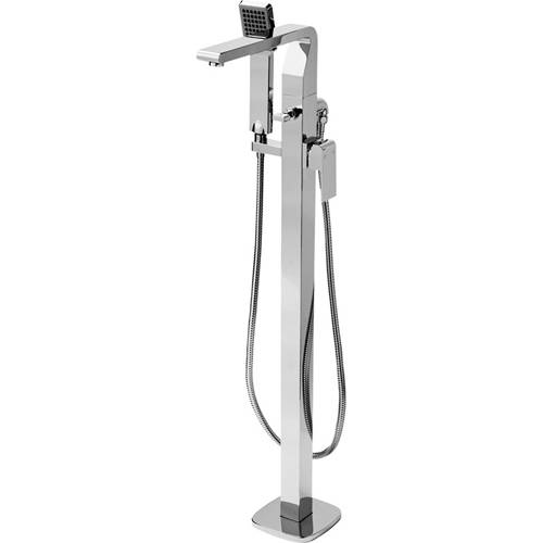 Additional image for Floor Mounted Bath Shower Mixer Tap With Shower Kit.