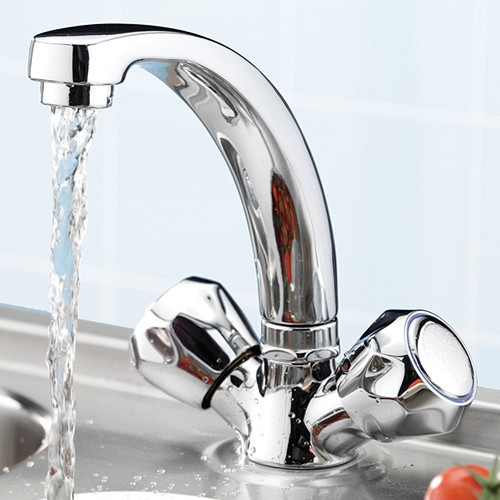 Additional image for Capri Mixer Kitchen Tap With Italy Heads (Chrome).