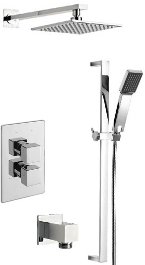 Additional image for Twin Thermostatic Shower Valve With Slide Rail & Head.