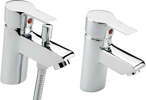 Additional image for Mono Bath Shower Mixer & Basin Tap Set (Chrome).