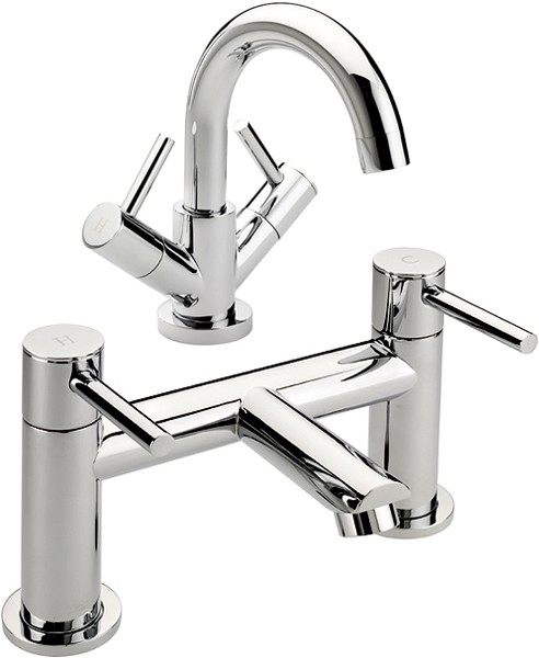 Additional image for Bath Filler & Basin Tap Set (Chrome).