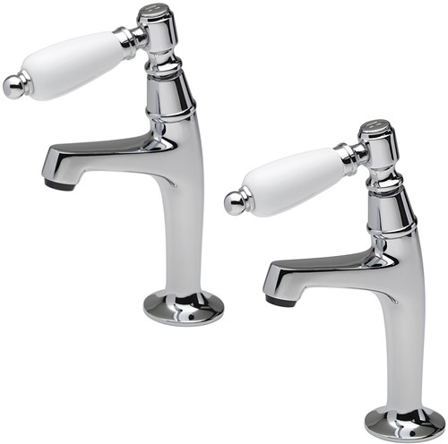 Additional image for Series 900 Lever High Neck Pillar Taps (Chrome, Pair).