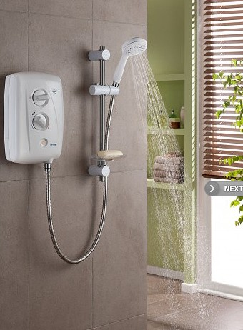 Additional image for T80Z Fast Fit Electric Shower, 10.5kW (White & Chrome).