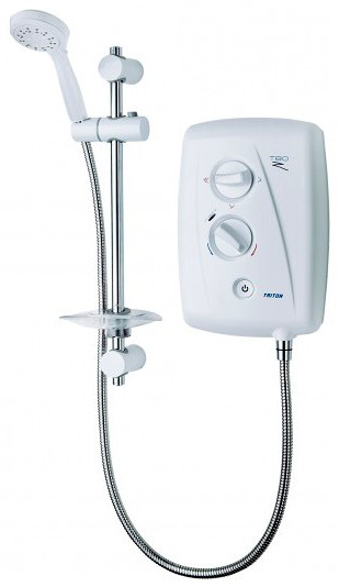 Additional image for T80Z Fast Fit Electric Shower, 9.5kW (White & Chrome).