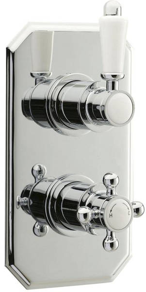 Additional image for Traditional Twin Concealed Thermostatic Shower Valve (Polymer).