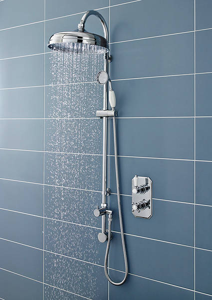Additional image for Traditional Thermostatic Shower Valve & Rigid Riser Kit (Polymer).