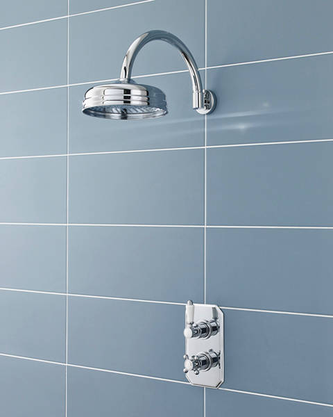 Additional image for Traditional Thermostatic Shower Valve & Round Head (Polymer).