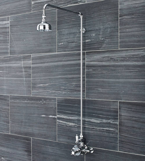 Additional image for Traditional Exposed Thermostatic Shower Valve & Riser Kit.