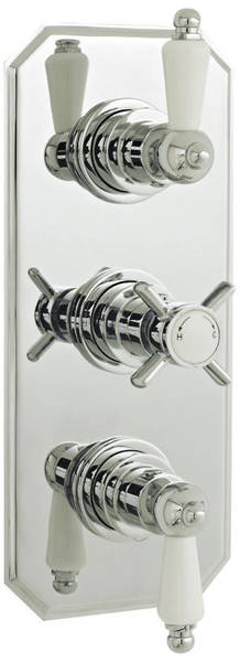 Additional image for Traditional Thermostatic Triple Concealed Shower Valve.