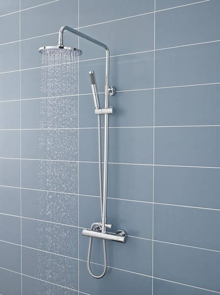 Additional image for Telescopic Shower Kit 1 With Diverter (Chrome).