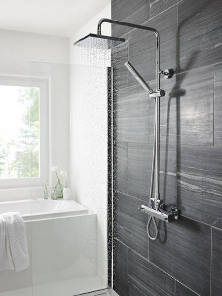 Additional image for Telescopic Shower Kit 2 With Diverter (Chrome).
