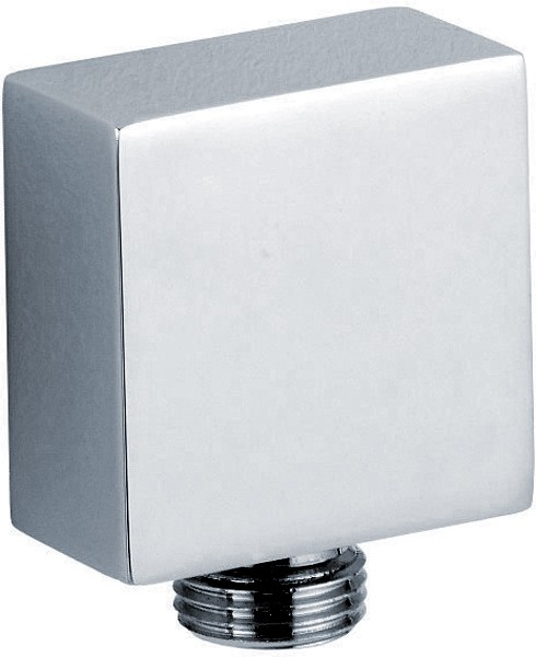 Additional image for Square Shower Outlet Elbow (Chrome).