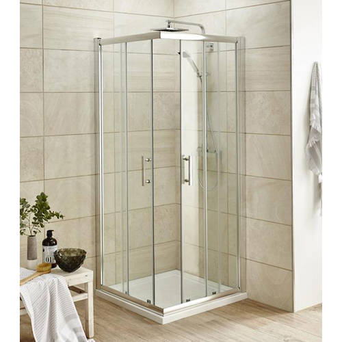 Additional image for Corner Shower Entry Enclosure (900x900mm).