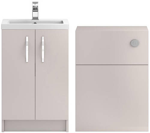 Additional image for Vanity Unit 500mm, Basin & WC Unit 600mm (Cashmere)