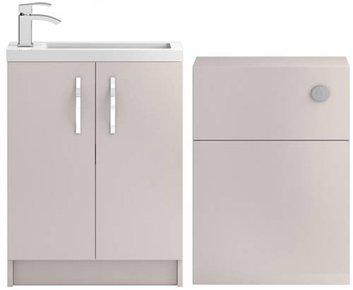 Additional image for Vanity Unit 600mm, Basin & WC Unit 600mm (Cashmere).