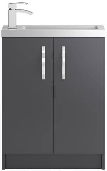 Additional image for Vanity Unit 600mm, Basin & WC Unit 600mm (Grey).