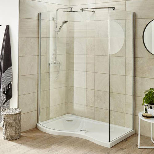 Additional image for Walk In Shower Enclosure & Tray (Left Handed, 1395x906).