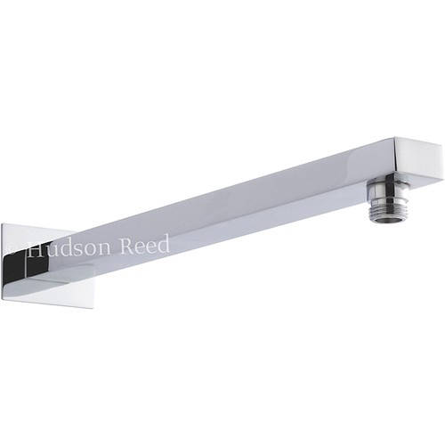 Additional image for Rectangular Wall Mounting Shower Arm (355mm, Chrome).