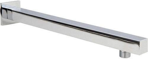 Additional image for Square Wall Mounting Shower Arm (350mm, Chrome).
