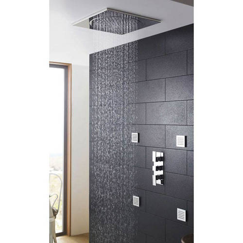 Additional image for Triple Concealed Thermostatic Shower Valve With Diverter.