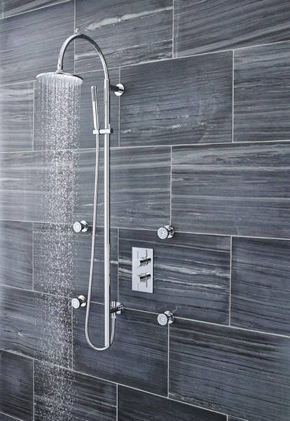Additional image for Breeze Deluxe Shower Kit With Diverter (Chrome).