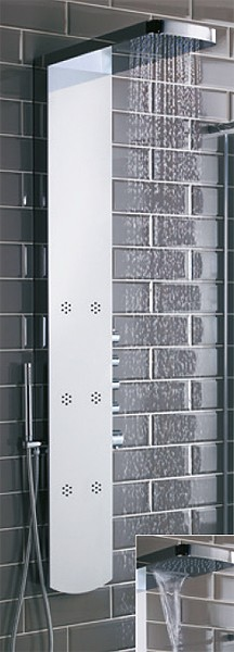 Additional image for Shimmer Thermostatic Shower Panel With Jets.