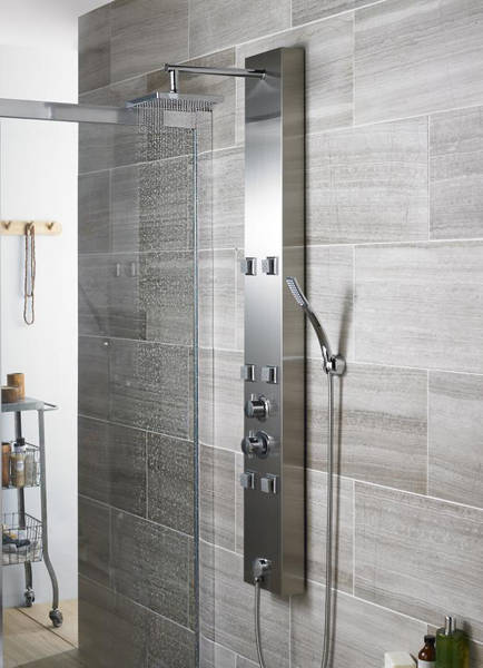 Additional image for Easton Thermostatic Shower Panel (Stainless Steel).