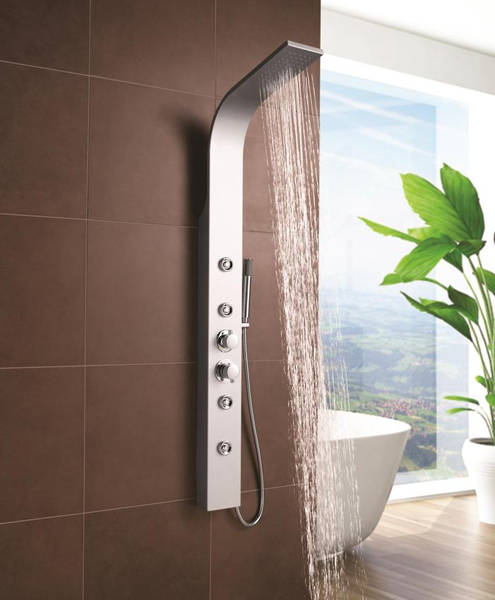 Additional image for Peyton Thermostatic Shower Panel (Matt Silver).