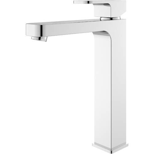 Additional image for Tall Basin Mixer Tap With Lever Handle (Chrome).