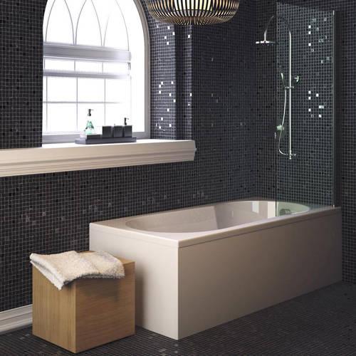 keyhole shower bath 1700x800mm hudson reed baths u bca001 marina keyhole shower bath 1700 x 800mm image 2