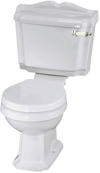 Additional image for Traditional Toilet With Cistern, Basin & Pedestal.