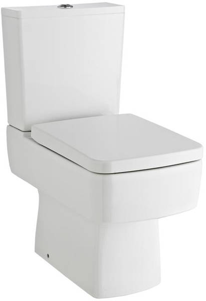 Additional image for Semi Flush Toilet With Seat, 600mm Basin & Full Pedestal.
