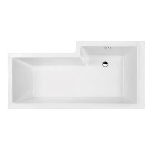 Additional image for Square 1500mm Shower Bath Only (Left Handed).