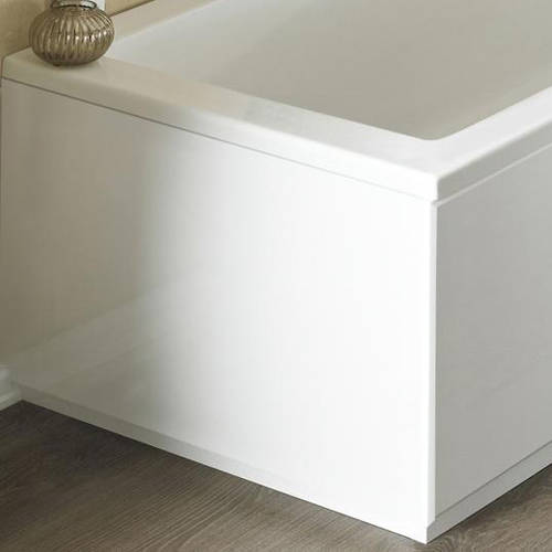 Additional image for End Bath Panel (High Gloss White, 800mm).
