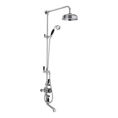Additional image for Shower & Bath Filler Kit With Black Handles (2 Way).