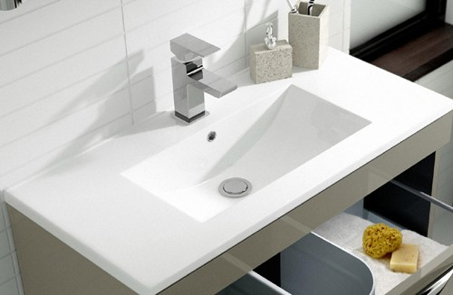 Additional image for 800 Wall Hung Vanity Unit & 121 Basin (Cashmere).