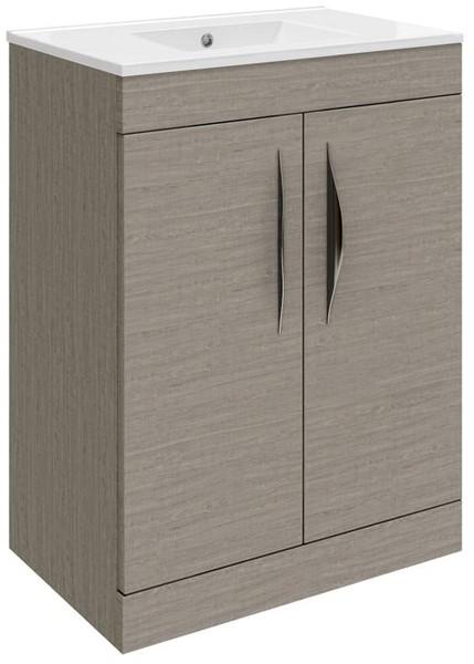 Additional image for 600 Vanity Unit With Doors & 120 Basin (Blonde Oak).
