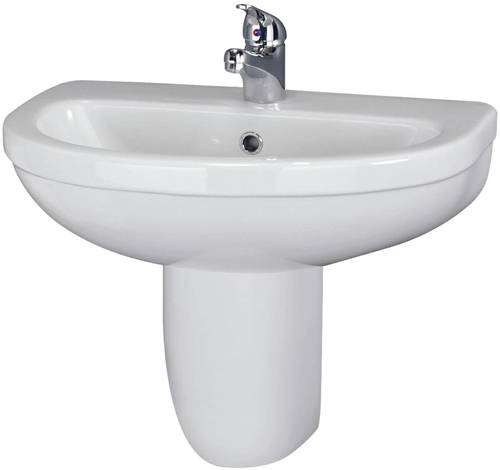 Additional image for Suite With Toilet, 550mm Basin & Semi Pedestal (1TH).